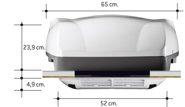 Telair Air Conditioner Front Dimensions